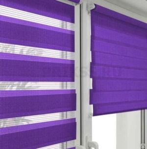 Рулонные шторы с фотопечатью принт Фиалки